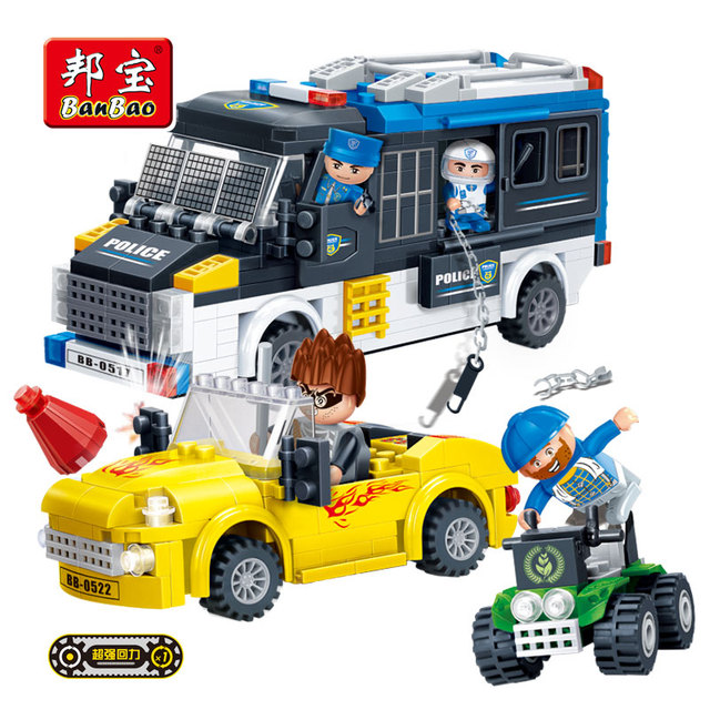 Model building kits compatible with lego city police chase outlaw ...