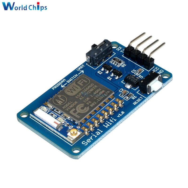 Esp8266 ESP-07 esp07 wifi módulo de placa sem fio transceptor serial 3.3 v 5 v 8n1 ttl uart porto controlador para arduino uno r3 um
