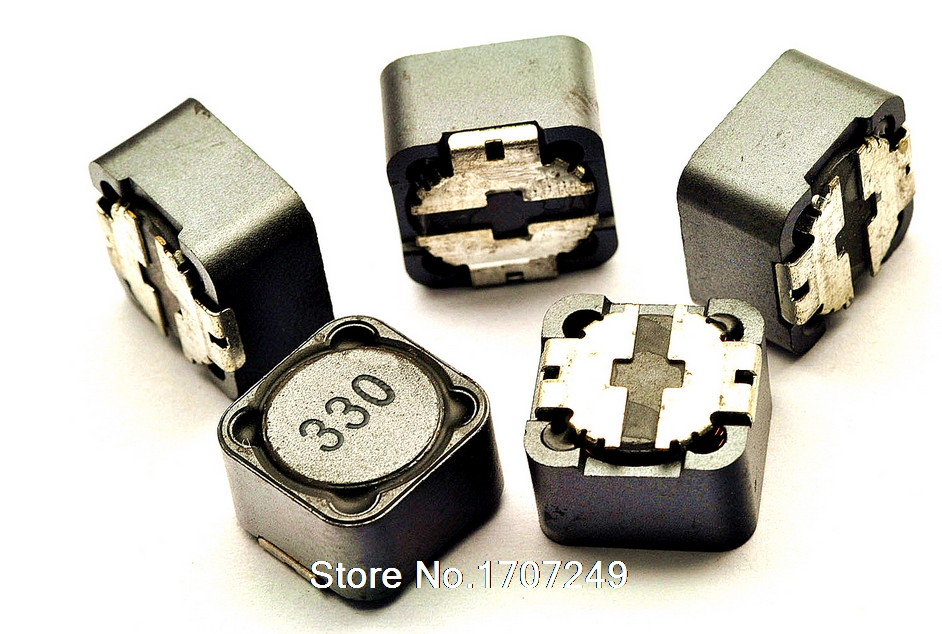 Free Shipping 100pcs/lot 12*12*7 33UH Power shielding inductance SMT SMD Patch Shielding Power Inductors M84 (Marking: 330)