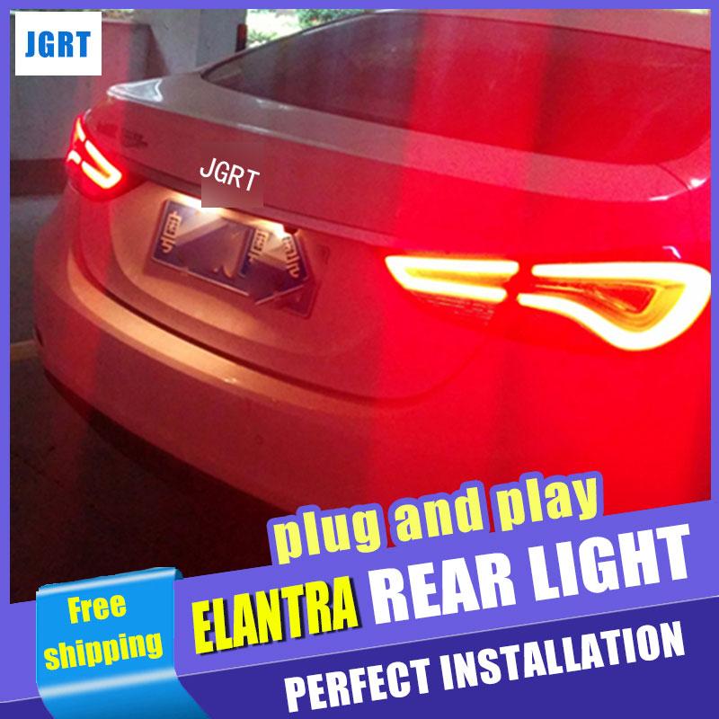 Стайлинга автомобилей для Hyundai Elantra в задний фонарь сборки Корея дизайн Новая Elantra задний фонарь задний фонарь тормозные Парк ДРЛ с HID комплект 2шт