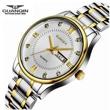 Marca de lujo GUANQIN Original Hombres Reloj de Cuarzo Resistente Al Agua Los Hombres 2016 Reloj Luminoso Reloj Masculino Reloj Masculino Relogio Del Reloj