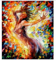 Hand painted Naked Figure Oil Painting on Canvas Acrylic Paintings Palette Knife Nude Woman Picture Abstract Home Decor Wall Art