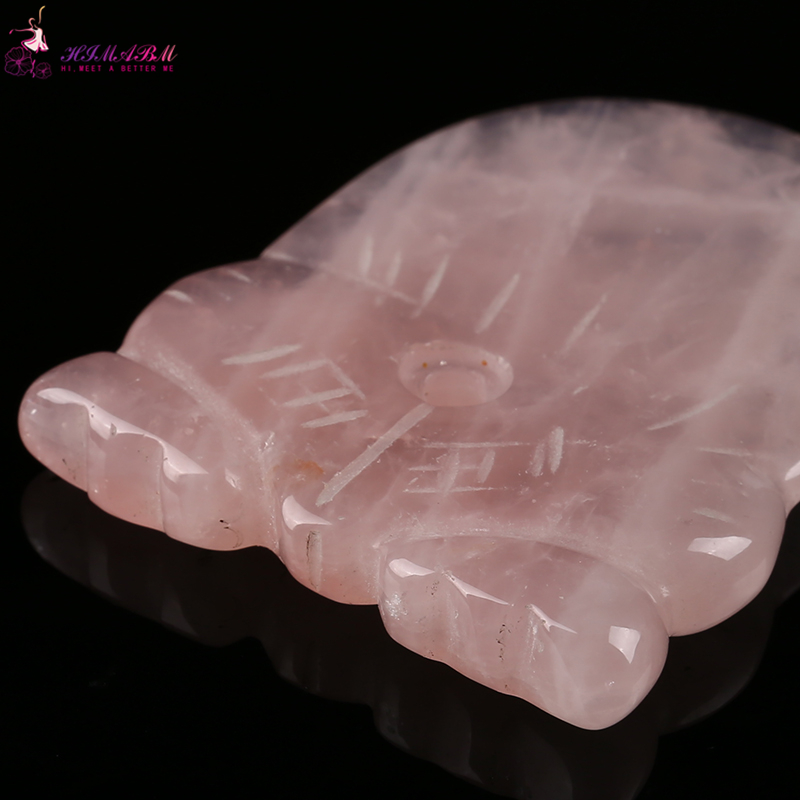 Natural rose quartz relax guasha board for wrinkle removal whitening face care beauty tools reiki healing item heath care