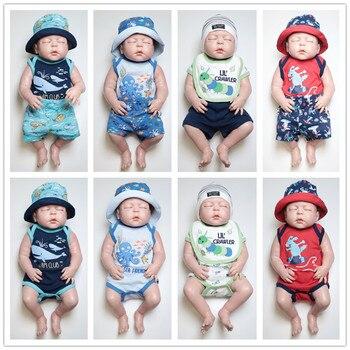 Impreso de dibujos animados de verano recién nacido ropa de bebé niño lindo  de manga corta bebé pantalones cortos de chica de silicona Giyim activo ... a0216c14344