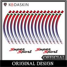KODASKIN 2D Emblem Sticker Decal Wheel Rim for Vespa GTS 300ie Super Sport gts 300ie kodaskin 2d printing wheel rim emblem sticker decal for yamaha nmax nmax155 abs