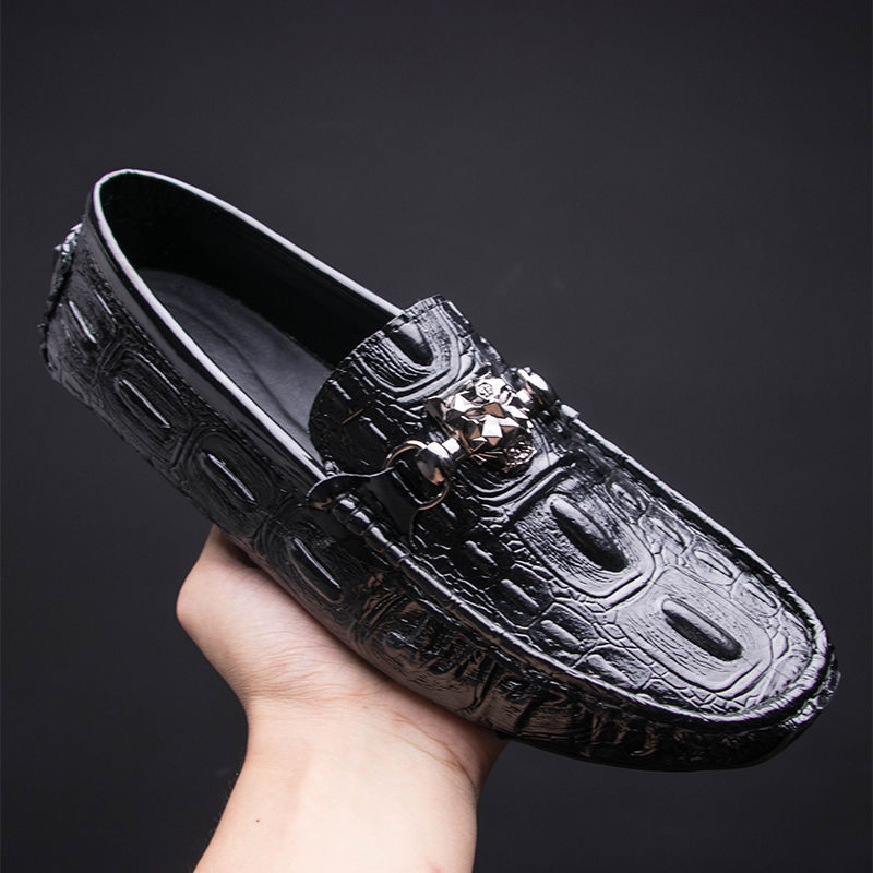 Boy new designer 2019 new seasons leather mens shoes crocodile pattern lazy casual shoesBoy new designer 2019 new seasons leather mens shoes crocodile pattern lazy casual shoes
