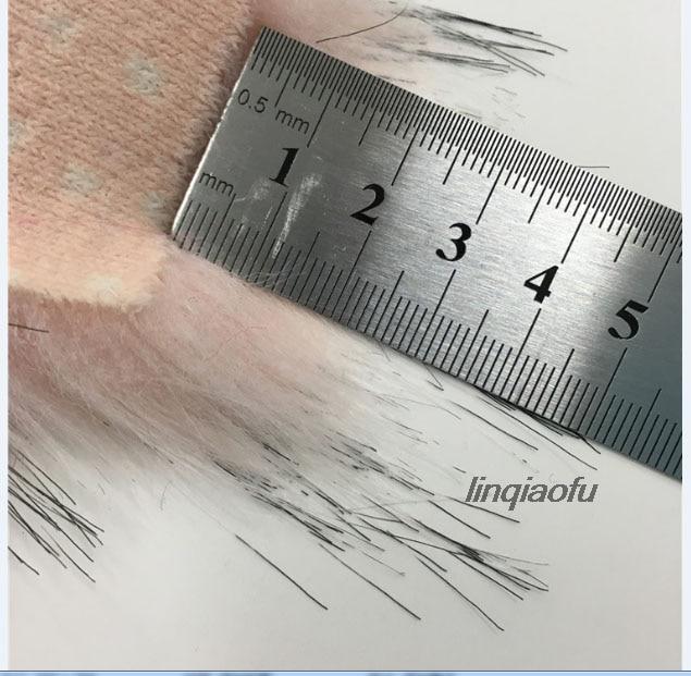 Haute imitation tresse cheveux fourrure artificielle tissu haute qualité fourrure collier fourrure en peluche tissu: 170*90 cm (une cour) un pcs - 4
