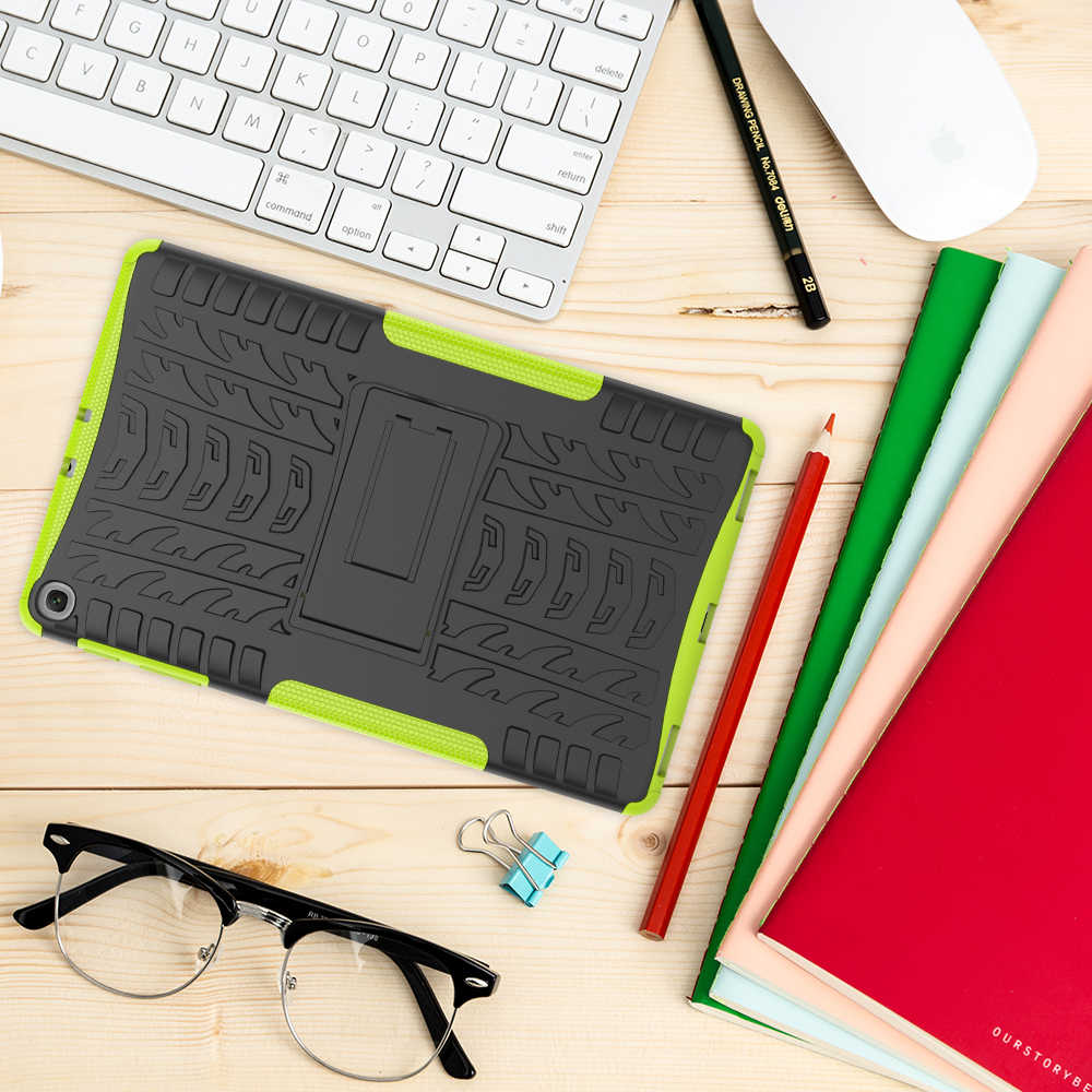 Silicon Cover untuk Samsung Galaxy Tab A 10.1 2019 Case T510 T515 SM-T510 SM-T515 Drop Resistance Coque Funda Capa + pena + Film