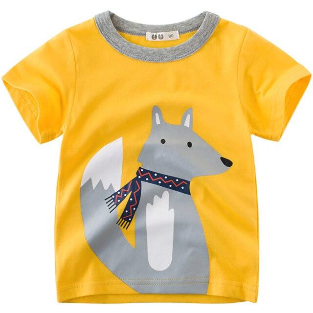 90602c23e5ba New Boys T-Shirts Cute Fun Fox Design Girls Tops Summer 2018 Kids Clothes  100% Cotton Children Short Sleeve Tshirt Baby T Shirt