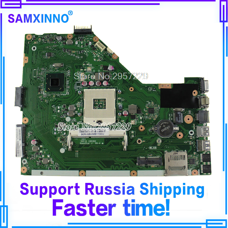For Asus Motherboard X55A REV.2.2 Mainboard 60-NBHMBB1100 SJTNV BD82HM70 Fully Tested S-6 for asus l50vn x57v m50vc m50vm m50v motherboard npcmb1100 a05 npcmb1500 a02 mainboard m50vm rev 2 0 pm45100