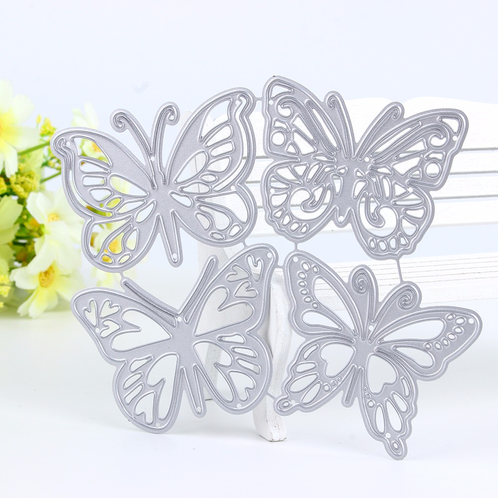 4pcs Butterfly Metal Cutting Dies Stencils For DIY Scrapbooking Album Paper Cards Decorative Crafts Embossing Die Cuts New 2019