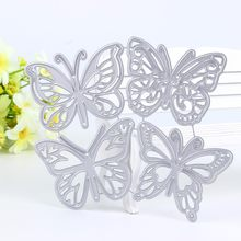 4pcs butterfly Metal Cutting Dies Stencils for DIY Scrapbooking Album Paper Cards Decorative Crafts Embossing Die Cuts New 2019(China)