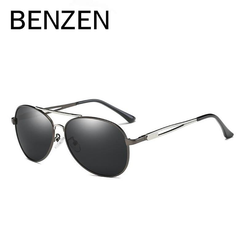 BENZEN Polarizované sluneční brýle Pánské značkové oblečení Pilot řidiče Řízení Sluneční brýle UV odstíny černé s krabičkou 9230