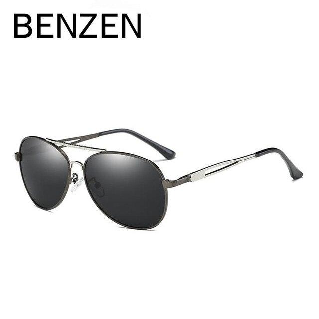 d6b6631939b6e BENZEN Polarized Óculos Homem Marca Designer Piloto Masculino Motorista  Dirigindo Óculos de Sol UV Shades Preto