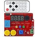 Светодиодный ИК-пульт управления с ИК-приемником, кнопка зуммера, светильник, датчик температуры 24C02 EEPROM для Arduino UNO R3