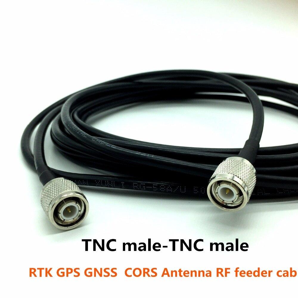 Alta calidad TNC connectorstnc 5 metros, aplicado a RTK GNSS antena, CORS Antena GPS, cable conector RG58, cable de cobre puro