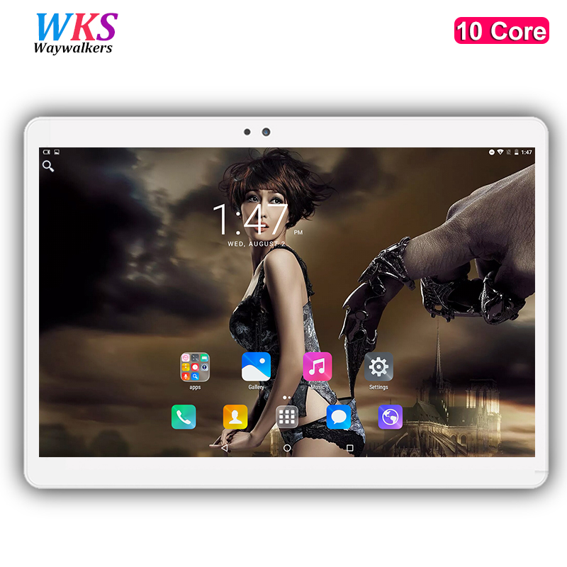 Waywalkers H8 10 inch 10 core tablet PC Android 7.0 4G LTE RAM 4GB ROM 64GB 1920x1200 IPS GPS Bluetooth tablets free shipping