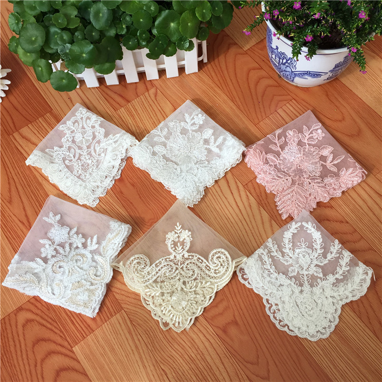 Luxury Tulle White Lace Embroidery Placemat Dining Mat Dish Pad