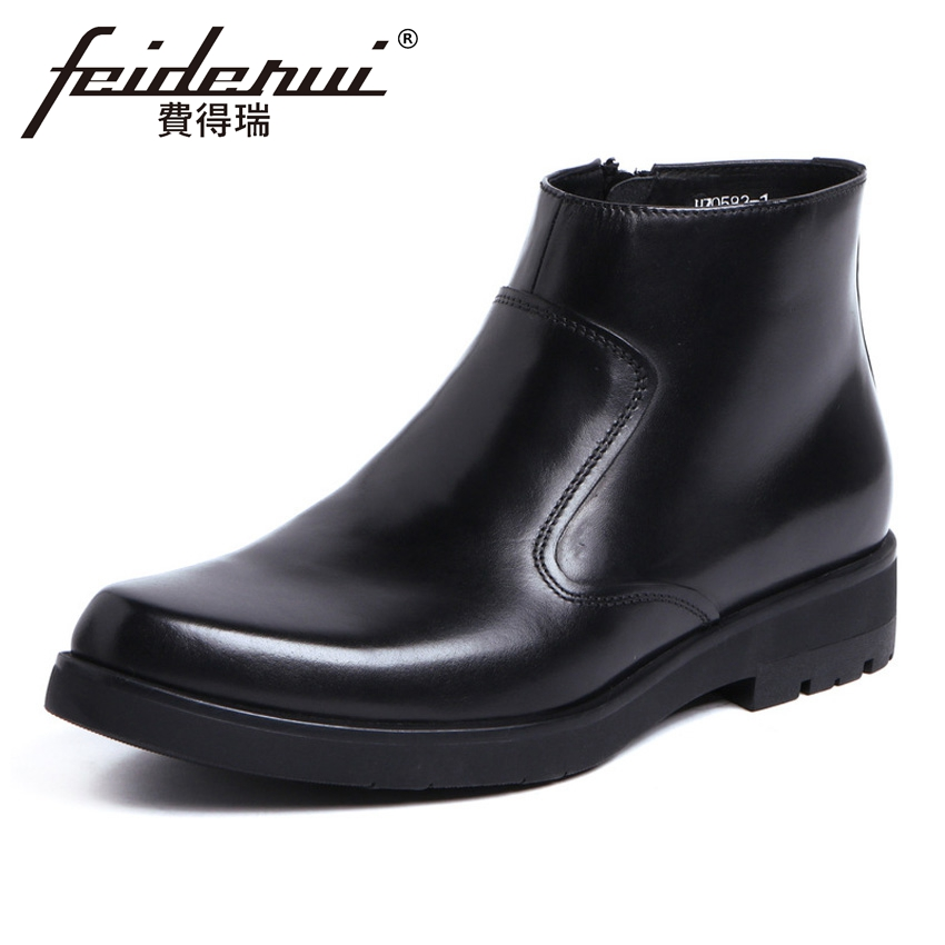 New Arrival Genuine Leather Mens Platform High-Top Ankle Boots Round Toe Handmade Cowboy Man Formal Dress Wedding Shoes YMX450New Arrival Genuine Leather Mens Platform High-Top Ankle Boots Round Toe Handmade Cowboy Man Formal Dress Wedding Shoes YMX450