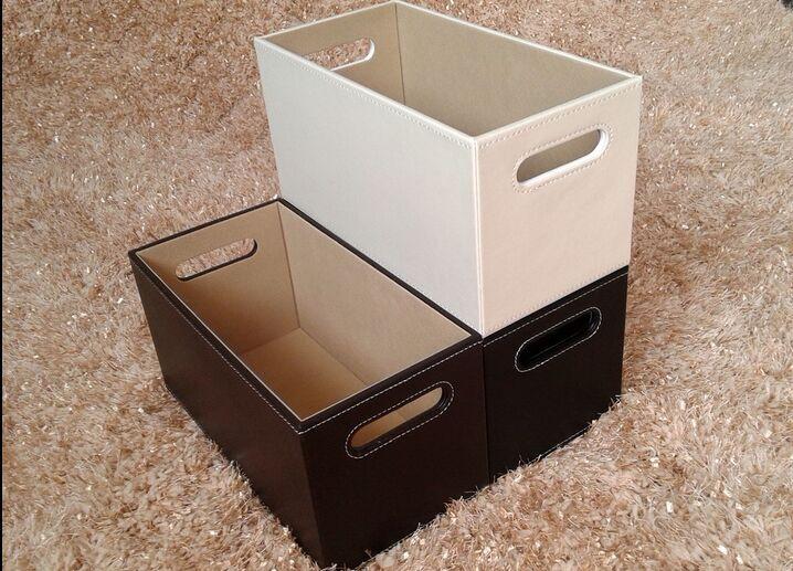 Free shipping European holes leather CD boxes CD rack CD basket receive sundry basket Storage basket