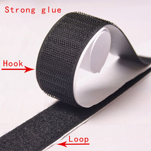 16/20/25/30/38/50mm 1M Black White Magic Tape Hook Loop Fastener Nylon Sticker Disks Sewing Adhesive with Glue
