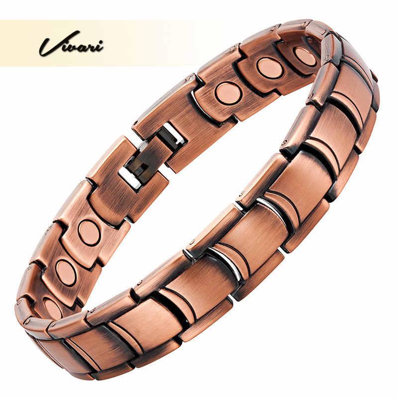 Pulsera de Bio magnética de moda de cobre antiguo de Vivari para hombres clásico Promoción de la circulación de la sangre encanto joyería pulsera