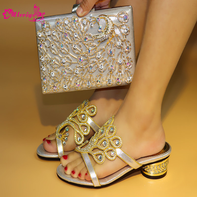 New Arrival Italian Ladies Shoes and Bag To Match Set Decorated with Rhinestone African Matching Shoes and Bags Italian In Women new dp215 2u server computer case 2u industrial computer case plate nas special computer case