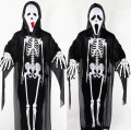 Adult Classic Halloween costume Clothes+Mask+Gloves zombie Skeleton bar theme activities skull scaring party ghost costumes