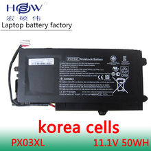 50wh  Battery for HP PX03XL TPN-C109 C110 C111 715050-001 714762-1C1 ENVY M6-K 14 series