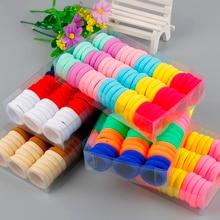 Высокое качество 66 шт./кор. конфеты цвет резинки для волос для девочек; мини-юбка для девочек; детская лента для волос аксессуары диаметр: 3 см