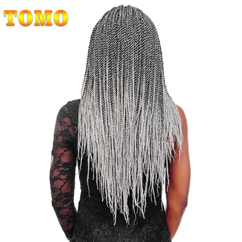 "TOMO Hair 30Strands 14"" 16"" 18"" 20"" 22""  Ombre Senegalese Twist Hair 100 Real Kanekalon Crochet Braids Hair Extensions 1Pack/Lot"