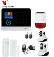 Yobang безопасности WI FI приложение интеллектуальные Управление GSM сигнализация Наборы открытый Строб Сирена с несколькими IP Камера для дома з