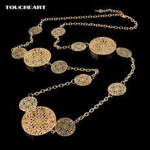 Toucheart длинные массивные ожерелья и кулоны для женщин золотое