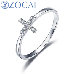 Zocai ring cross shape natural 0 05 ct diamond ring with real 18k white gold au750.jpg 250x250