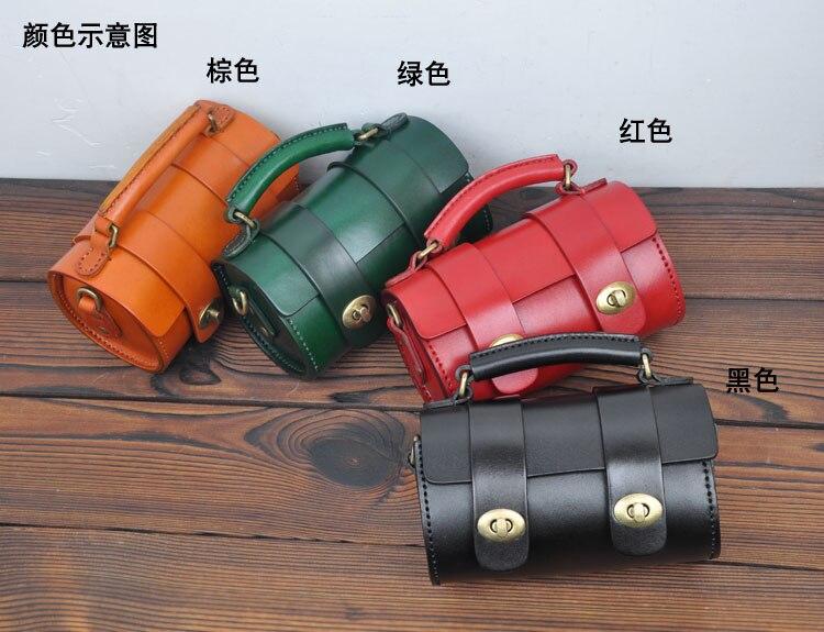 AETOO Original artesanal de couro retro mini saco Do Mensageiro saco de cabeça redonda pequena do couro tannage bolsa das senhoras - 2