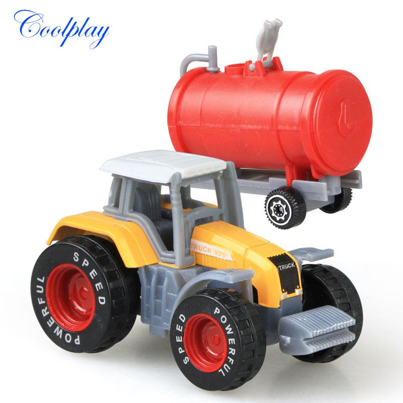 Die-cast Farm Vehicles Mini Car Model Engineering Car Model Tractor Engineering Car Tractor Toys Model for Kids Xmas Gift 5