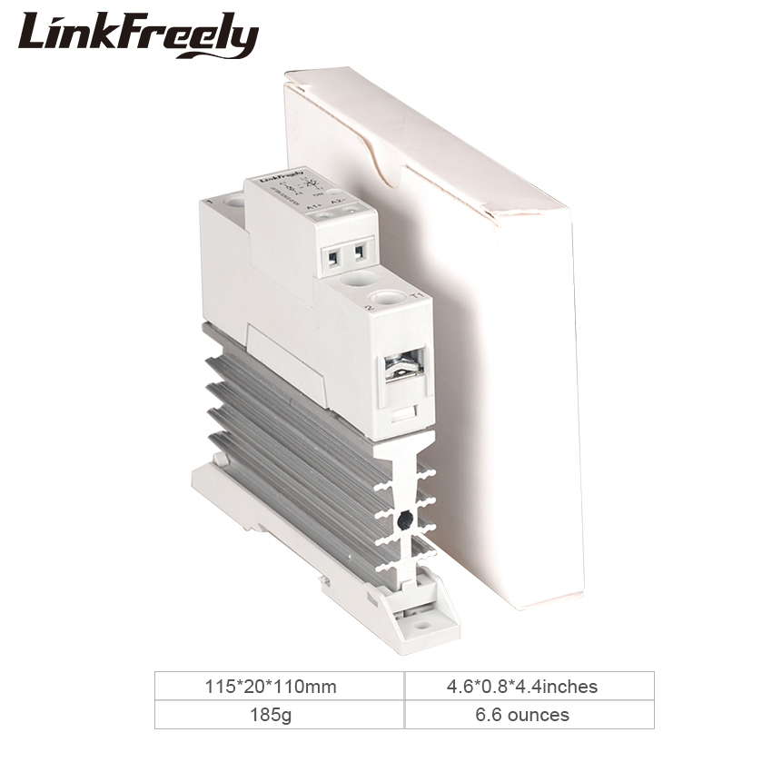 TRA23D10L 10A Heat Sink Solid State Relay DC AC 5V 12V 24V 32VDC In Out 24 280VAC Voltage Control Relay Board Module Din Rail in Relays from Home Improvement