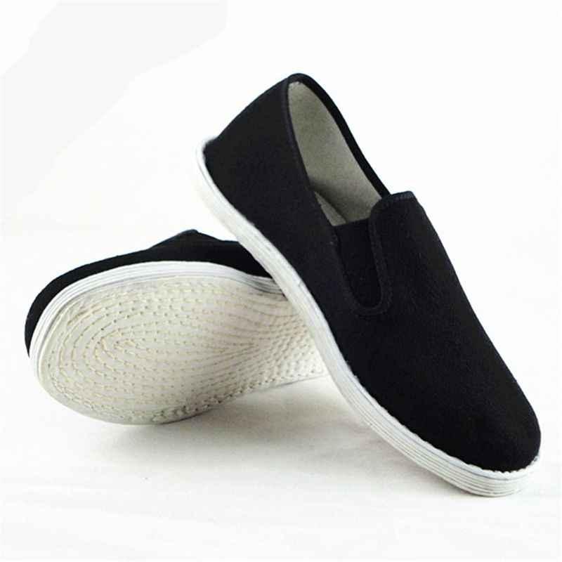 Cotton Sole Mens Kung Fu Closed Toe
