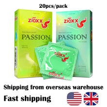 ZIOXX Condoms 20pcs/pack  Natural Latex Smooth Lubricated Condom Ultra Thin for Men fast shipping oversea warehouse
