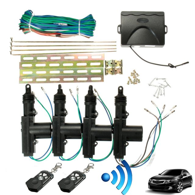 360 Graden Rotatie Universele Car Auto Centrale Fob Alarm Security Kit 2 4 Deur Beugel Locking Keyless Systeem
