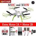 Tiempo real syma x5hc x5hw 4-ch 2.4g 6-axis drone rc quadcopter helicóptero con wifi cámara fpv hd flotando sin cabeza toys
