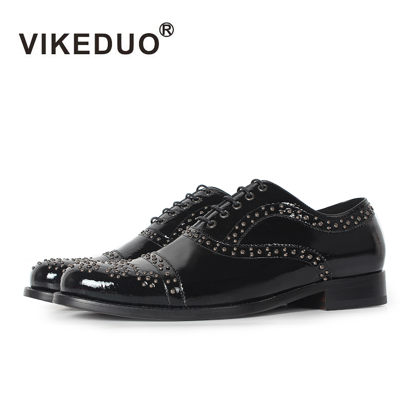 Vikeduo 2018 Handmade Lace-up Fashion Casual Luxury Party wedding Dance male shoe Black Genuine Leather Men Oxford Dress Shoes 2018 spring genuine leather loafers men casual shoes lace up luxury fashion male handmade moccasins driving footwear xxz5