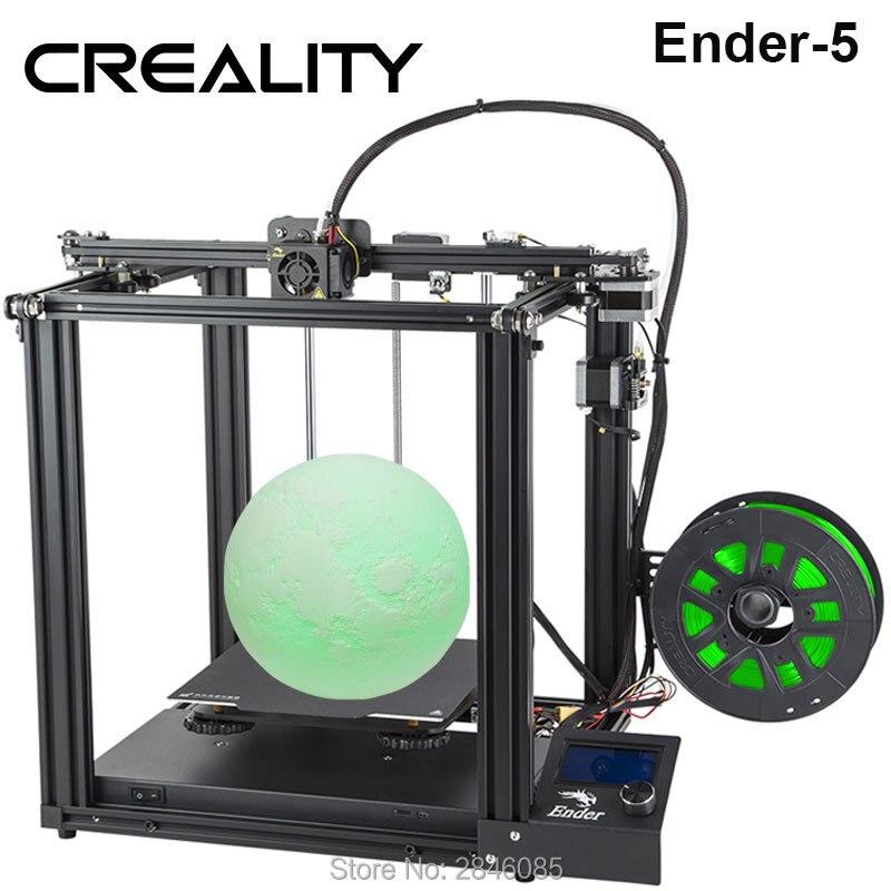 CREALITY impresora 3D Creality Ender-5 con potencia estable Landy, placa de construcción magnética, CV de apagado