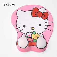 FXSUM Cartoon Mouse Pad Cute Hello Kitty Skid Resistance Memory Foam Wrist Rest Doraemon Mousepad PC Mat CS GO Dota Steelseries