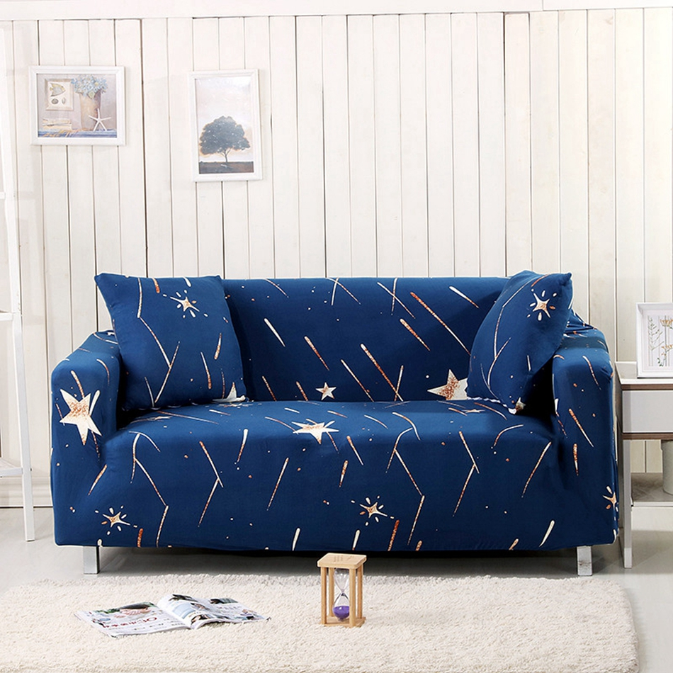 US $49.0 |Blue Stars Couch Sofa Covers Elastic Corner Sofa Slipcovers For  Living Room Loveseat Multi size Home Decoration Sofa Slipcovers -in Sofa ...