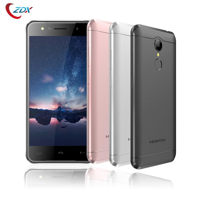 bilder für Homtom HT37 MTK6580 Quad Core Android 6.0 Fingerabdruck Handy 5,0 Zoll Handy 2G RAM 16G ROM Entsperren Smartphone