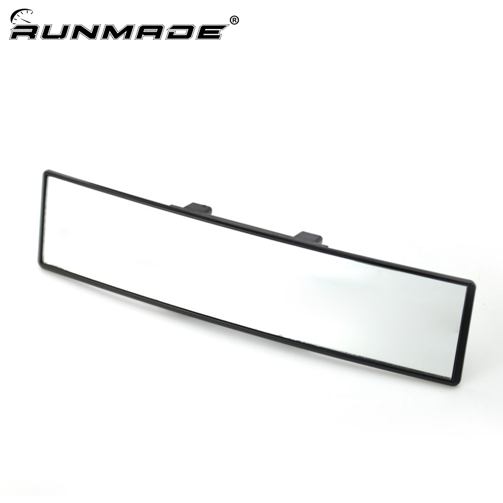 runmade Universal 30cm Wide Convex Curve Interior Clip On Panoramic Rear View Mirror For Car SUV Van Truck Car Styling