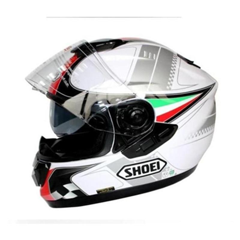 Cool Helmet Motorcycle Helmet Full Face Helmet Dual Lens Genuine ABS + PC Material Helmet Free Shipping