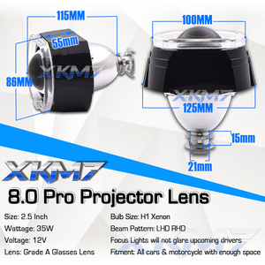 Auto Car Lenses H4 H7 Bixenon Projector Headlight Angel Eyes 2.5 Lens LED Running Lights For Car Accessories Tuning H1 HID Bulbs