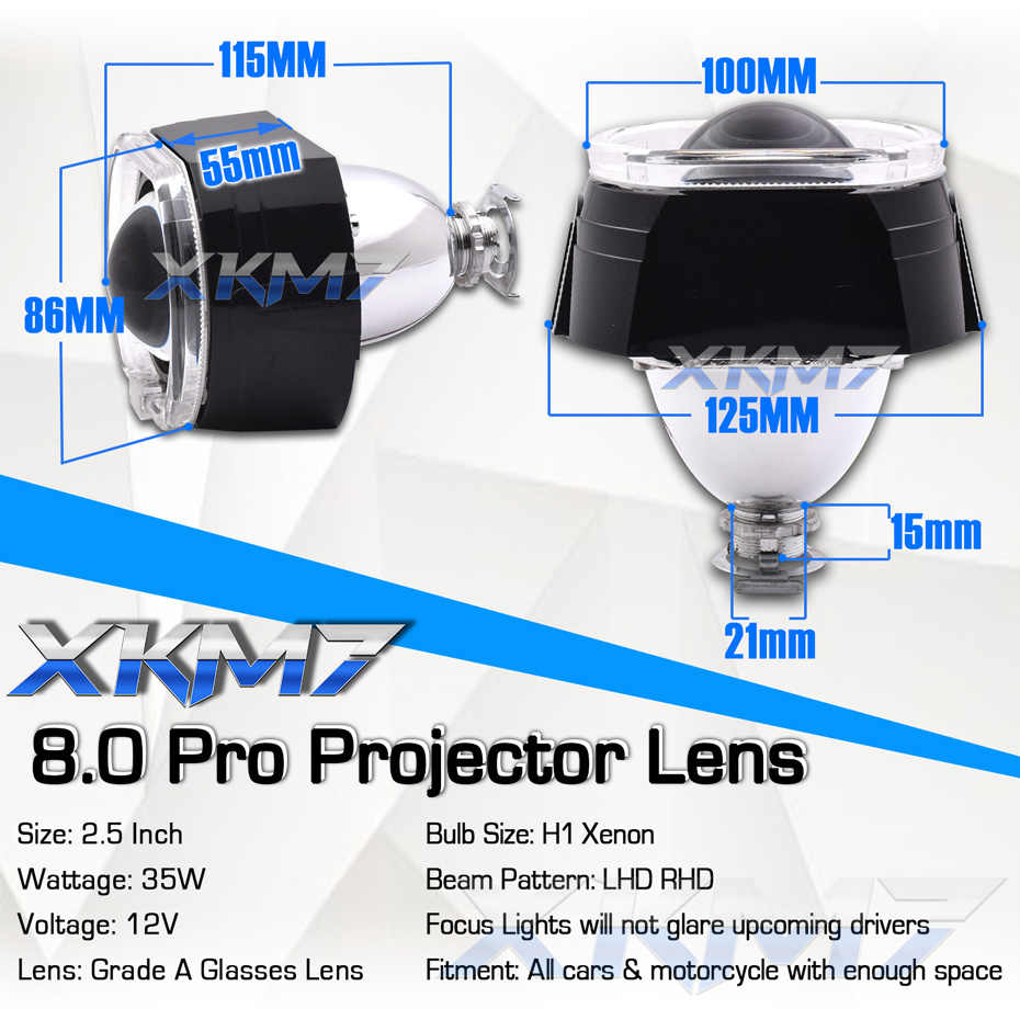 Auto voiture lentilles H4 H7 Bixenon projecteur phare ange yeux 2.5 lentille LED feux de course pour voiture accessoires Tuning H1 HID ampoules